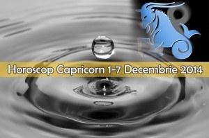 Horoscop Saptamanal Capricorn 1-7 Decembrie 2014