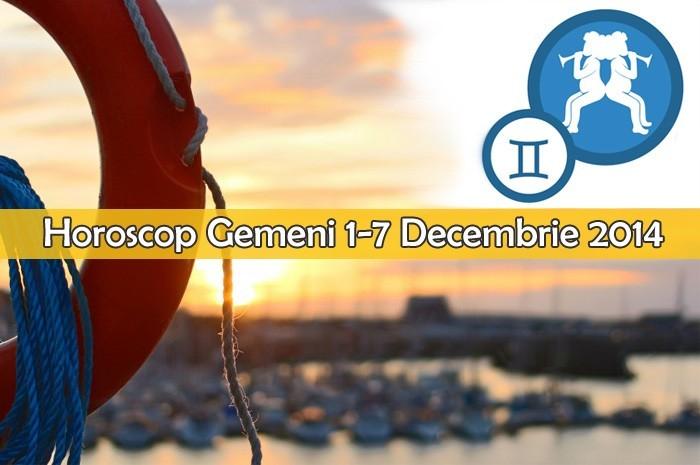 Horoscop Saptamanal Gemeni 1-7 Decembrie 2014