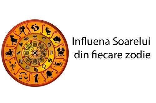 Influenta Soarelui din fiecare zodie