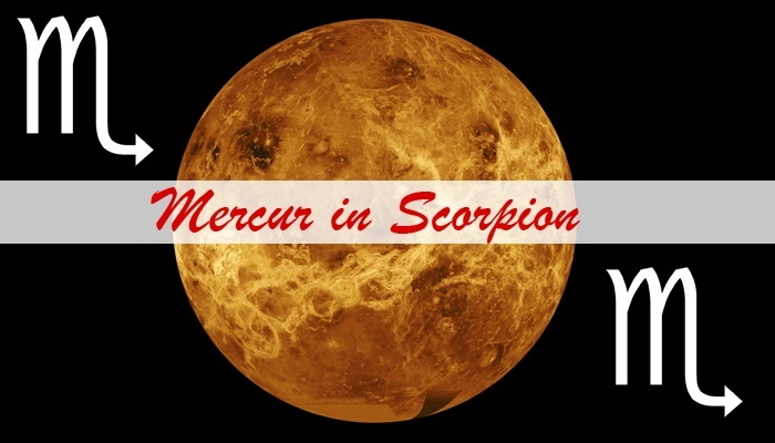Cum ne influenteaza Mercur din Scorpion