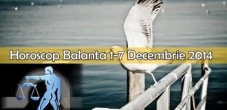 Horoscop Saptamanal Balanta 1-7 Decembrie 2014